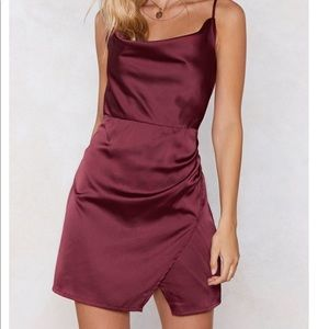 Nasty Gal cowl neck mini dress